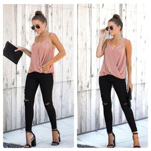 NWT BESOS TOP 🌸 VICI DOLLS / DUSTY PINK